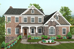 Craftsman Style Two-Story Home Has Stonework, Shingle Siding And Wood Trim