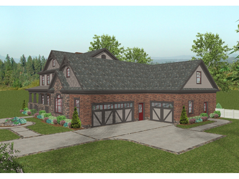 Craftsman House Plan Front Image - 013D-0172 | House Plans and More