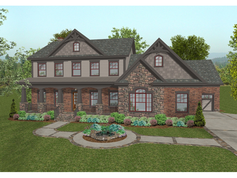 Craftsman House Plan Front of Home - 013D-0172 | House Plans and More