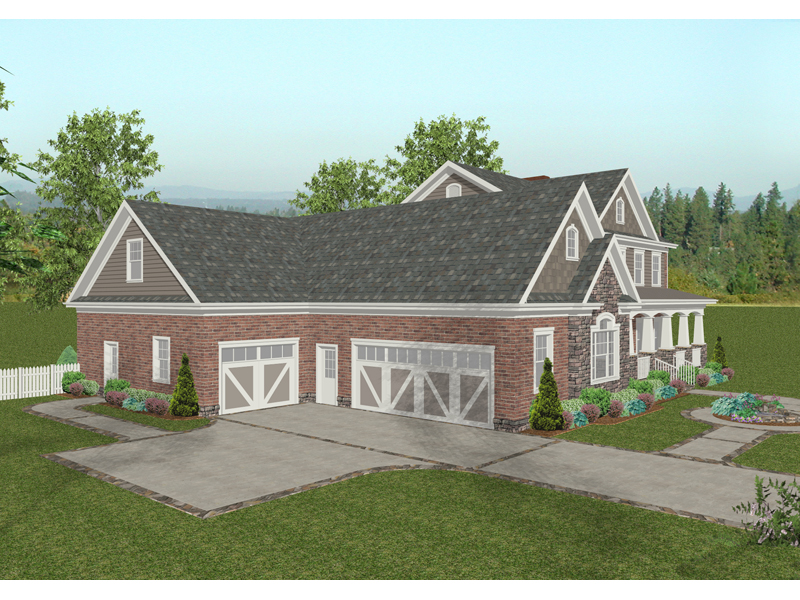 Craftsman House Plan Front Image - 013D-0173 | House Plans and More