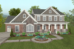 Two-Story Craftsman Style Home With Covered Front Porch