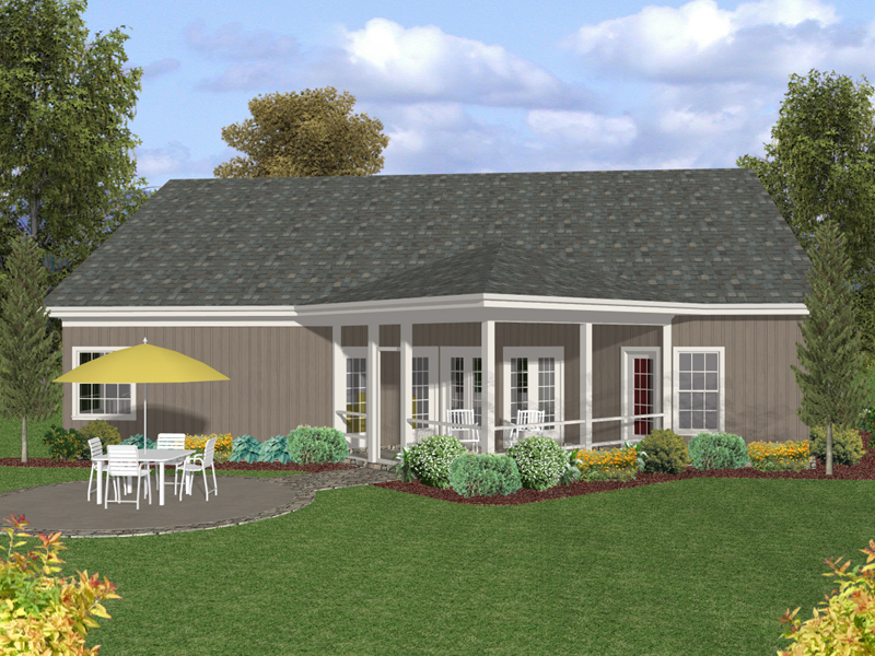 Ranch House Plan Color Image of House - 013D-0175 | House Plans and More