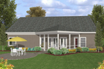 Traditional House Plan Color Image of House - 013D-0175 | House Plans and More