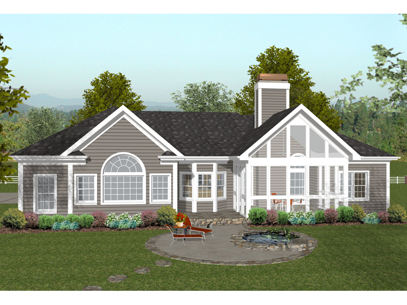 Ranch House Plan Color Image of House - 013D-0177 | House Plans and More