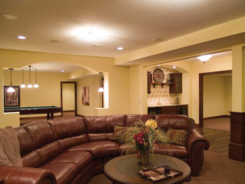 Luxury House Plan Basement Photo 01 013D-0178