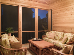 rustic screened porch