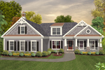 Craftsman House Plan Front of Home - 013D-0180 | House Plans and More