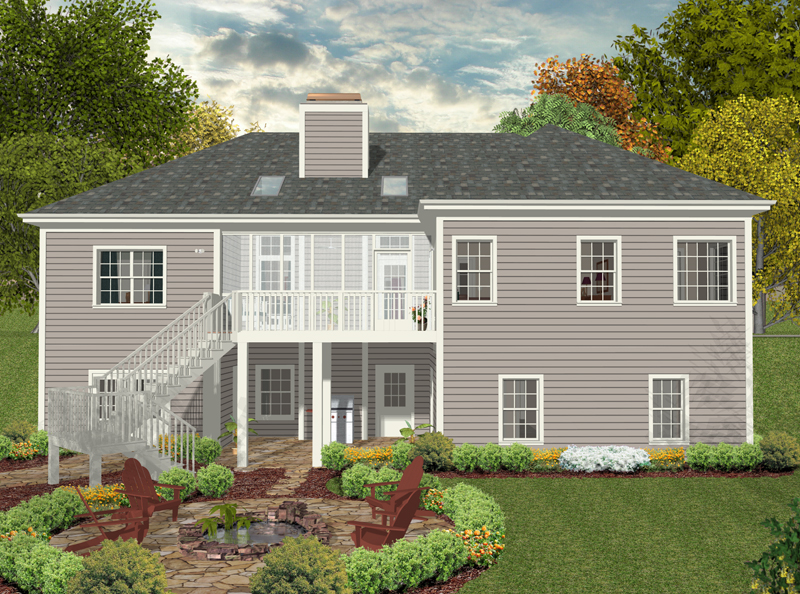 Ranch House Plan Color Image of House - 013D-0180 | House Plans and More