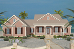 Beach & Coastal House Plan Front of Home - 013D-0181 | House Plans and More