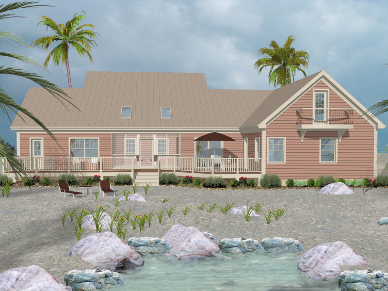 Beach and Coastal House Plan Rear Photo of House - 013D-0181 | House Plans and More