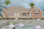 Beach & Coastal House Plan Rear Photo of House - 013D-0181 | House Plans and More