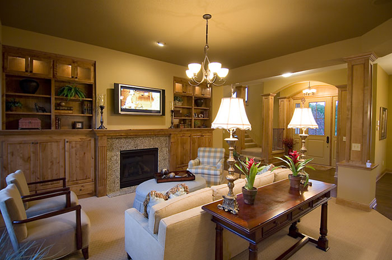 Prairie Style Floor Plan Family Room Photo 01 013D-0188