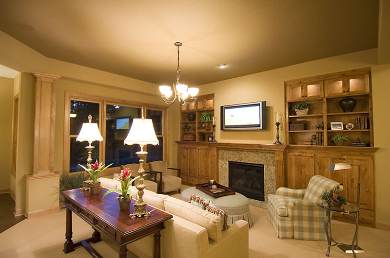 Prairie Style Floor Plan Living Room Photo 01 013D-0188