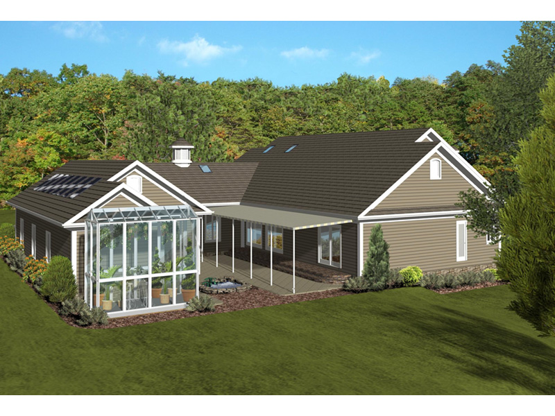 Ranch House Plan Side View Photo 01 - Dansby Country Ranch Home 013D-0206 | House Plans and More