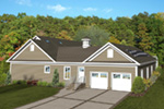 Ranch House Plan Side View Photo 02 - Dansby Country Ranch Home 013D-0206 | House Plans and More