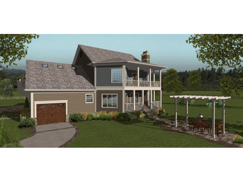 Traditional House Plan Rear Photo 01 -  013D-0207 | House Plans and More