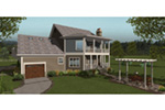 Arts & Crafts House Plan Rear Photo 01 -  013D-0207 | House Plans and More