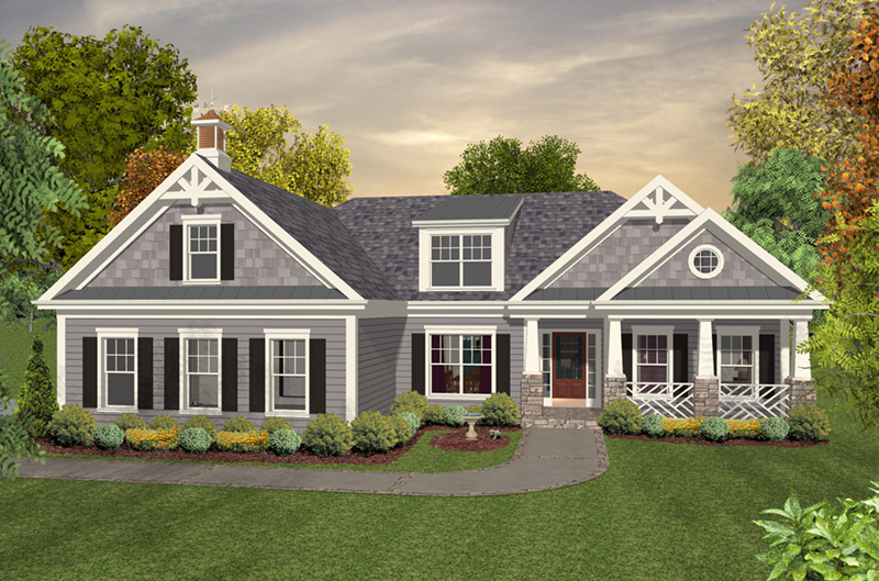 Front of Home -  013D-0230 | House Plans and More