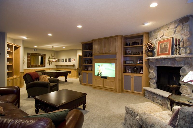 Prairie Style Floor Plan Basement Photo 01 013S-0001