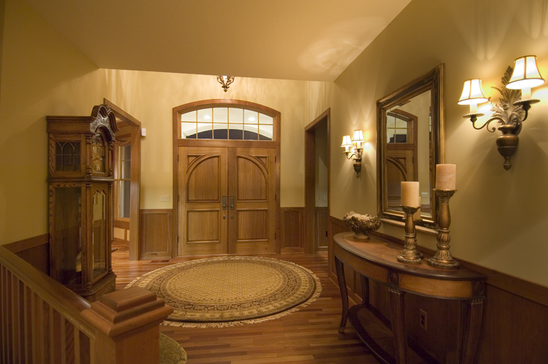 Prairie Style Floor Plan Foyer Photo 013S-0001