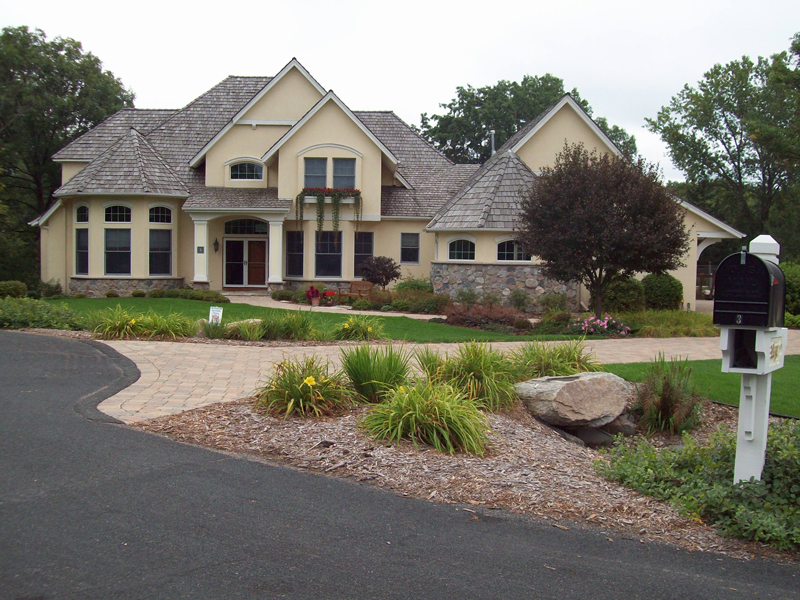Prairie Style Floor Plan Front of Home 013S-0001