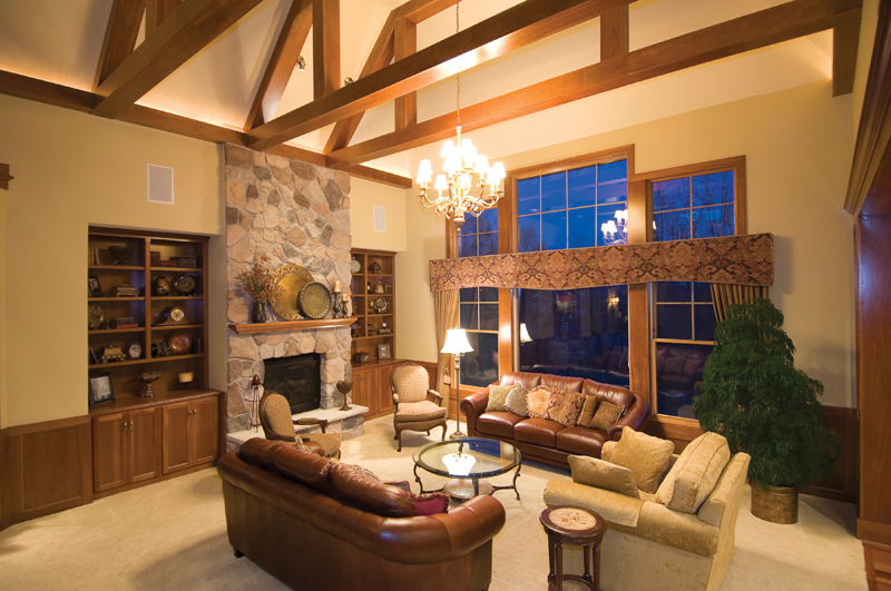 Prairie Style Floor Plan Living Room Photo 02 013S-0001