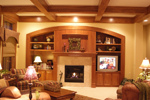 Prairie Style Floor Plan Family Room Photo 03 - 013S-0003 | House Plans and More