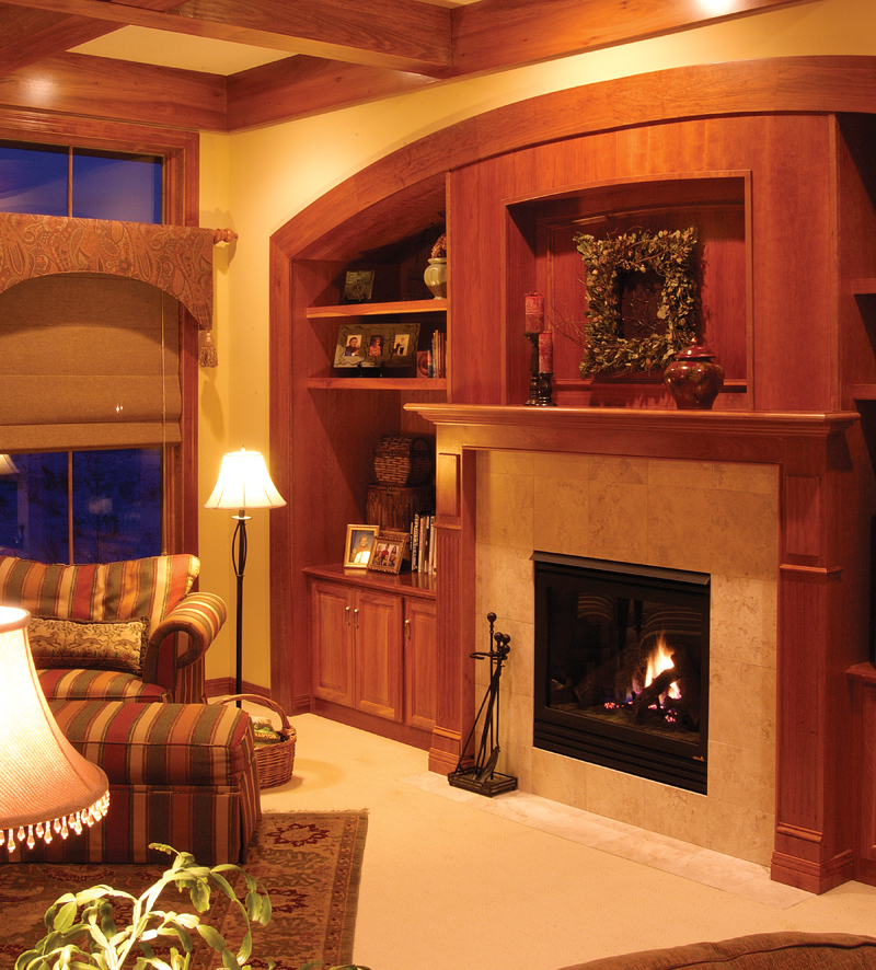 Prairie Style Floor Plan Fireplace Photo 01 - 013S-0003 | House Plans and More