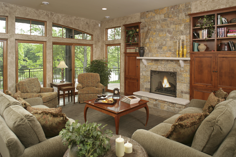 Prairie Style Floor Plan Family Room Photo 01 - 013S-0004 | House Plans and More