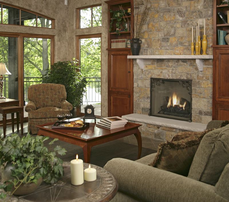 Prairie Style Floor Plan Family Room Photo 02 013S-0004
