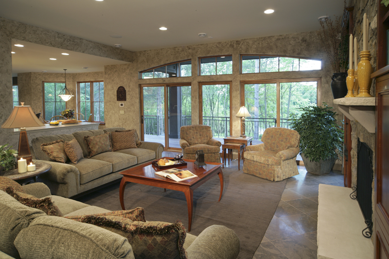 Prairie Style Floor Plan Family Room Photo 03 013S-0004
