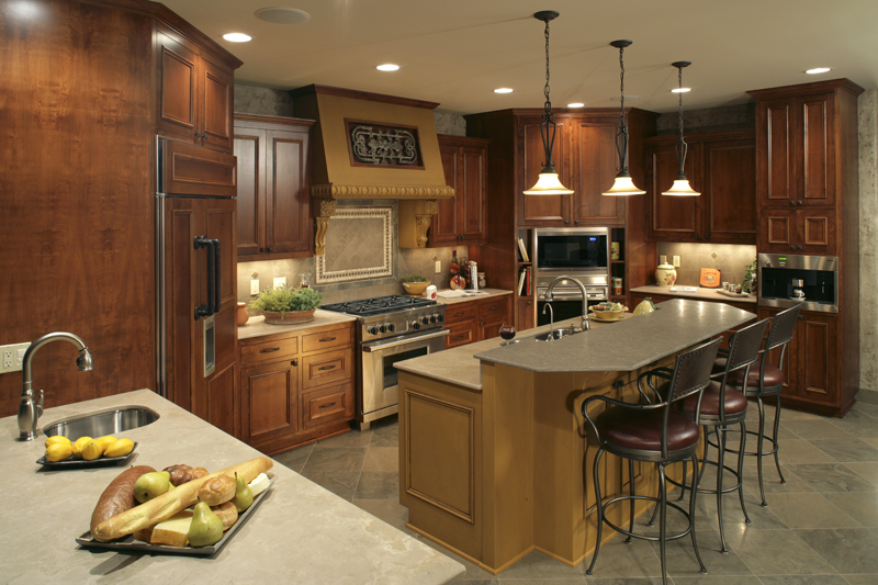 Prairie Style Floor Plan Kitchen Photo 01 013S-0004