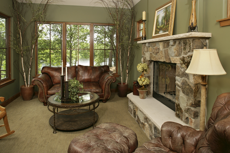 Prairie Style Floor Plan Living Room Photo 01 013S-0004