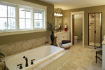Prairie Style Floor Plan Master Bathroom Photo 01 - 013S-0004 | House Plans and More