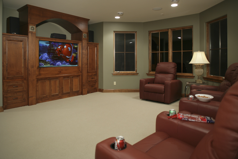 Prairie Style Floor Plan Theater Room Photo 01 - 013S-0004 | House Plans and More