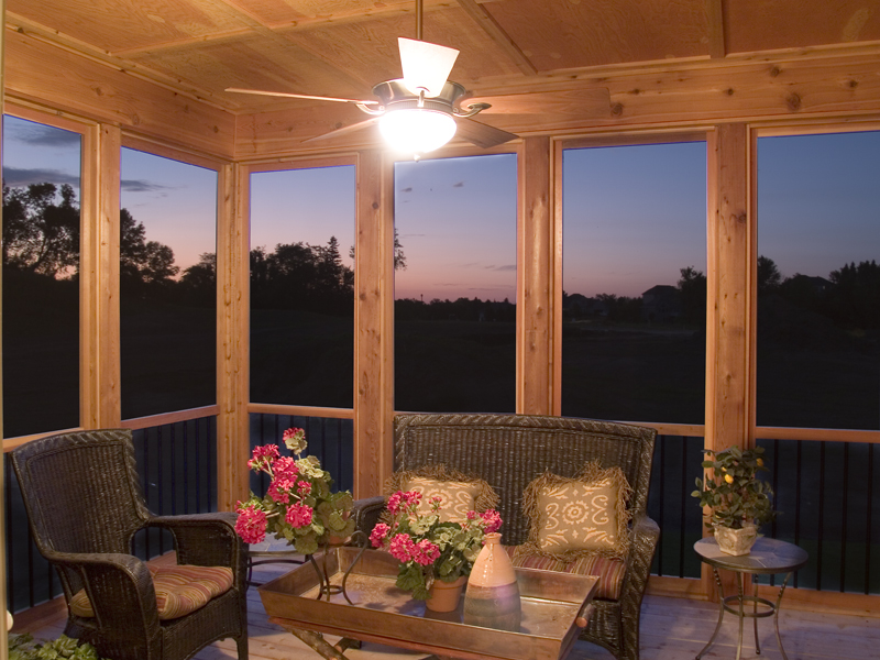 Prairie Style Floor Plan Screened Porch Photo 01 013S-0005