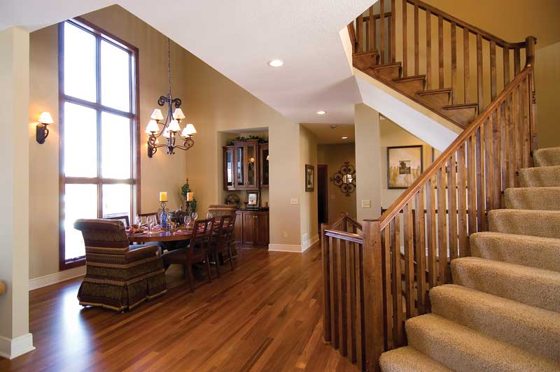 Prairie Style Floor Plan Stairs Photo 01 013S-0006
