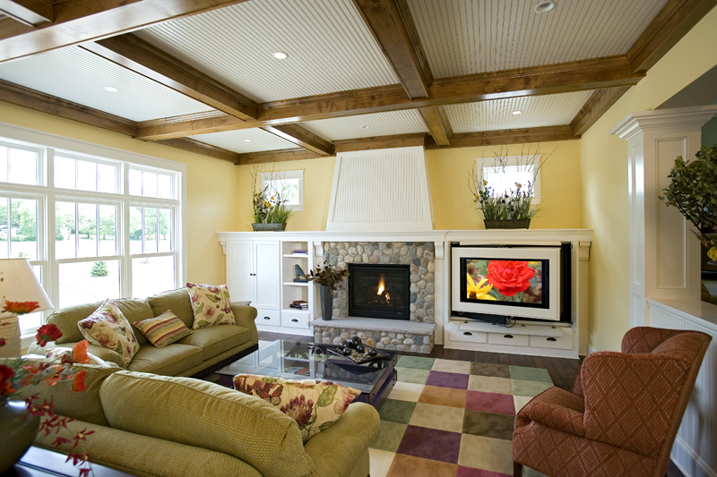 Prairie Style Floor Plan Family Room Photo 01 013S-0008