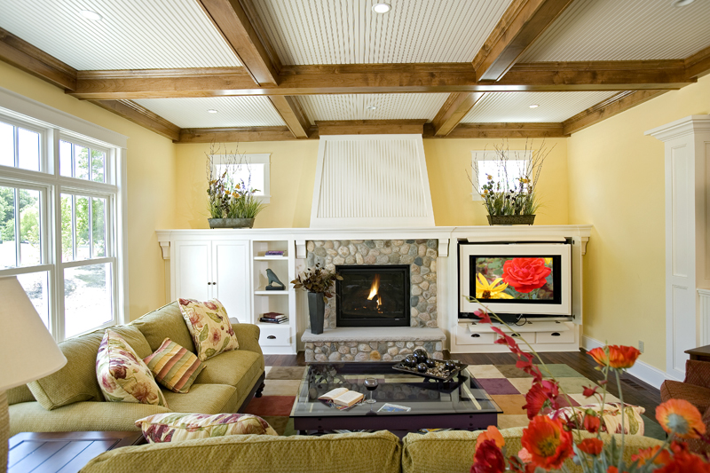Prairie Style Floor Plan Family Room Photo 02 013S-0008