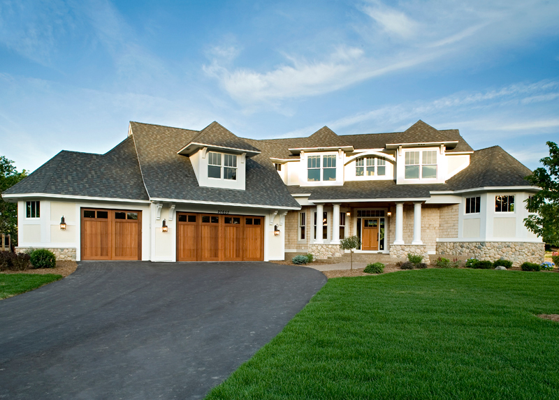Prairie Style Floor Plan Front of Home 013S-0008