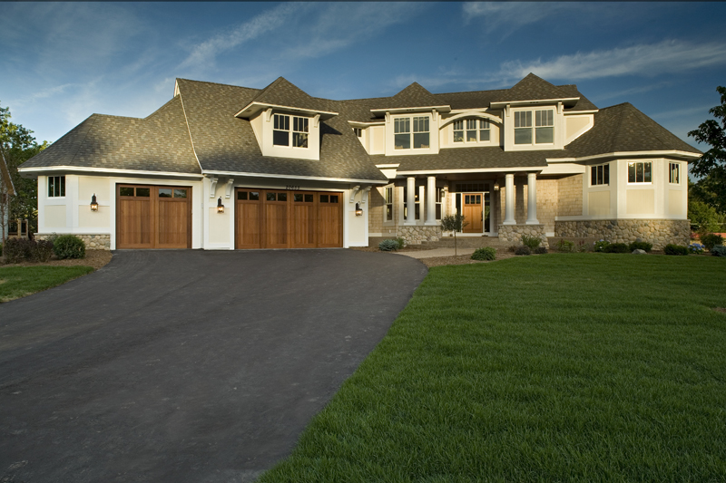 Prairie Style Floor Plan Front Photo 01 013S-0008