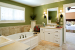 Prairie Style Floor Plan Master Bathroom Photo 01 - 013S-0008 | House Plans and More