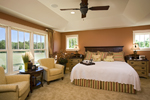 Prairie Style Floor Plan Master Bedroom Photo 01 - 013S-0008 | House Plans and More