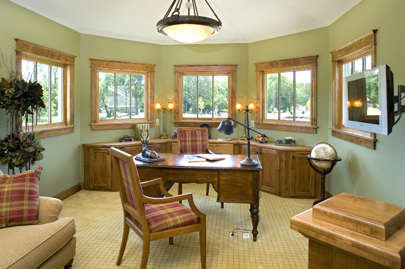 Prairie Style Floor Plan Office Photo 02 013S-0008