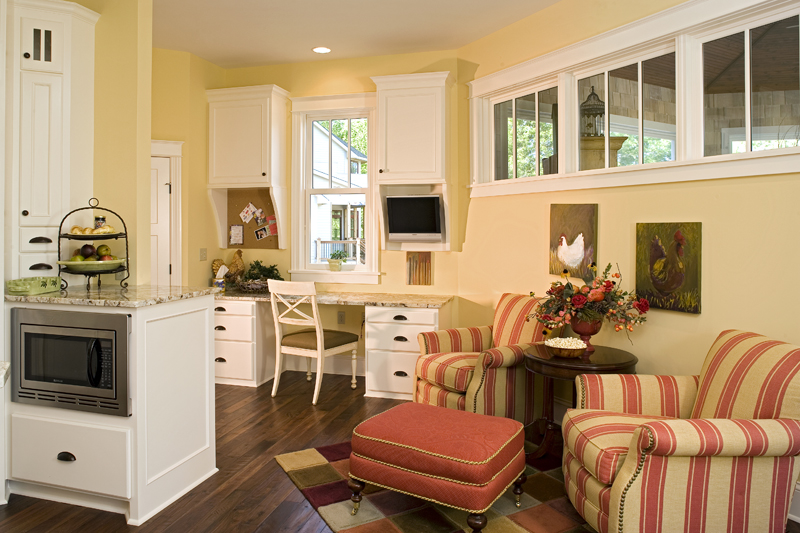 Prairie Style Floor Plan Sitting Area Photo 013S-0008
