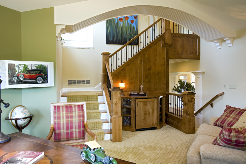 Prairie Style Floor Plan Stairs Photo 013S-0008