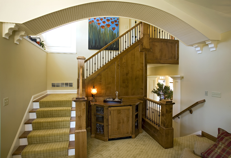 Prairie Style Floor Plan Stairs Photo 01 013S-0008