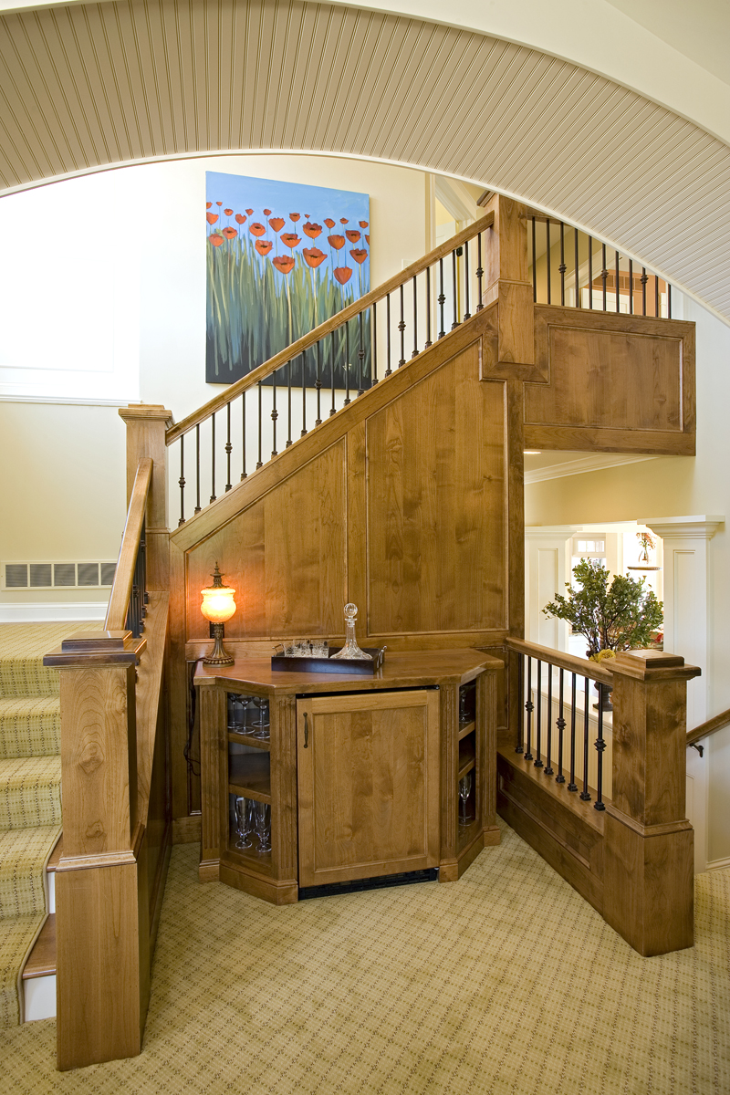 Prairie Style Floor Plan Stairs Photo 02 013S-0008