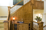 Prairie Style Floor Plan Stairs Photo 02 - 013S-0008 | House Plans and More