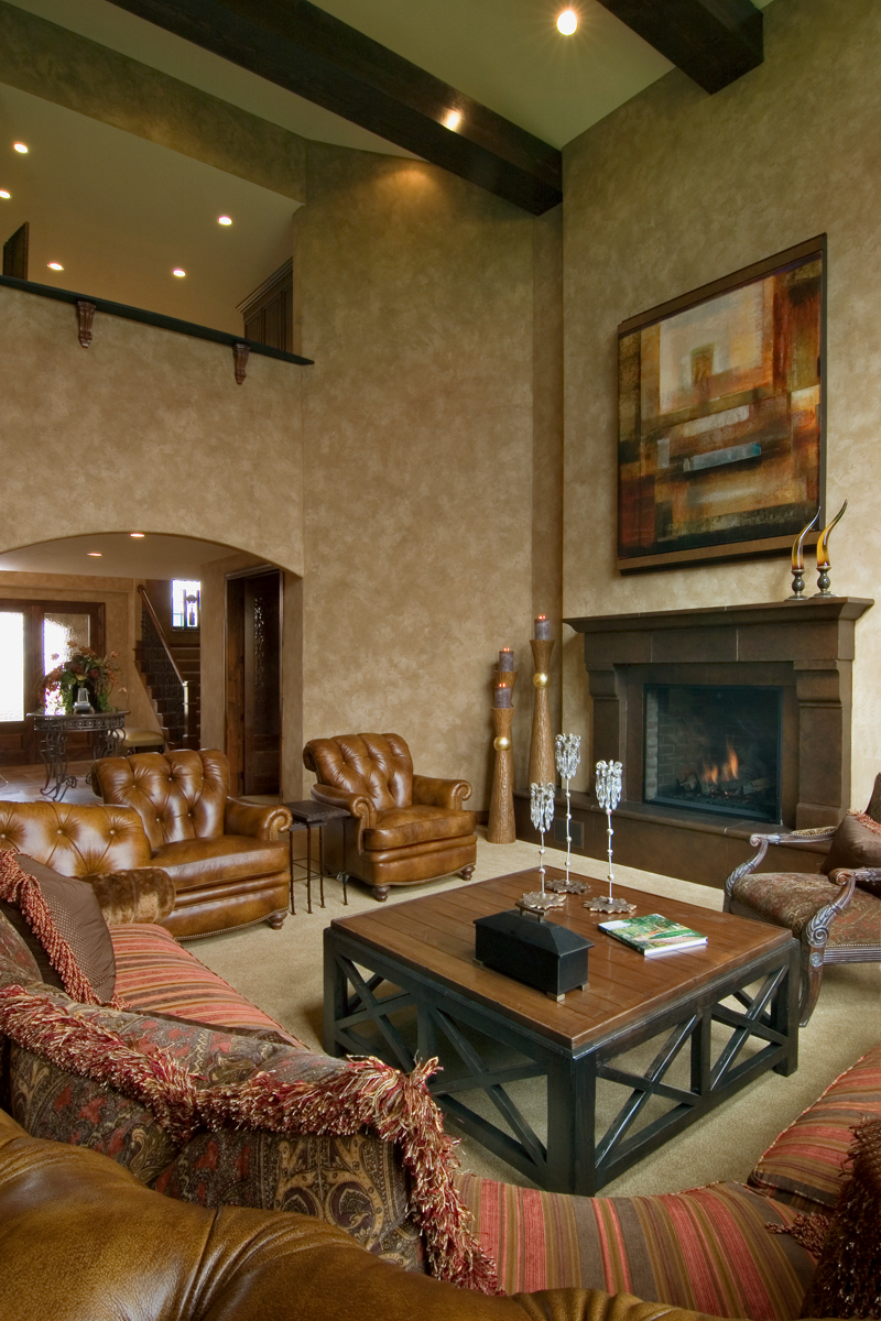 Prairie Style Floor Plan Family Room Photo 03 013S-0009